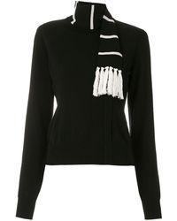 Dolce & Gabbana スカーフディテール カシミアセーター - ブラック