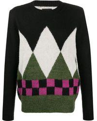 Stussy パターン セーター - ブラック
