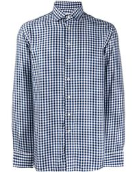 Etro Overhemd Met Gingham Ruit - Wit