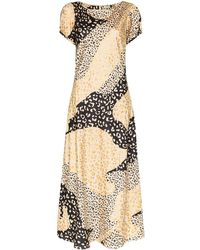 RIXO London Reese Leopard Print Dress - Multicolour