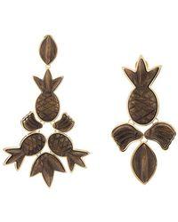 Osklen - X Tarsila Pineapple Charm Drop Earrings - Lyst