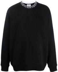 Acne Studios Sweatshirt mit Logo - Schwarz