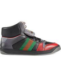Gucci - Screener High-top Sneakers Van Leer - Lyst