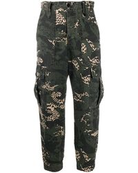 Zadig & Voltaire Camouflage-print Cargo Trousers - Green