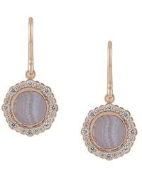 Astley Clarke - Lace Agate Luna Drop Earrings - Lyst