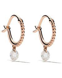 Raphaele Canot - 18kt Rose Gold Set Free Diamond Beaded Mini Hoops - Lyst