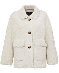 Unreal Fur ムートンスタイル ジャケット - ホワイト