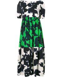 Delpozo カラーブロック ドレス - ホワイト