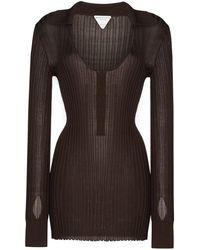 Bottega Veneta Ribbed-knit Jumper - Brown