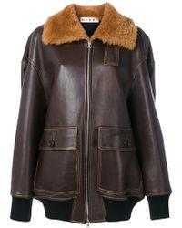 Marni - Shearling Trim Jacket - Lyst