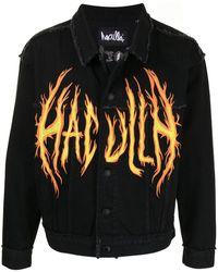 Haculla On Fire デニムジャケット - ブラック