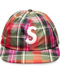 Supreme Baseballkappe mit Karomuster - Mehrfarbig
