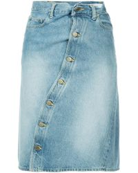 Facetasm - Twisted Denim Skirt - Lyst