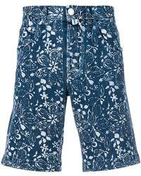 Jacob Cohen - Floral-print Denim Shorts - Lyst