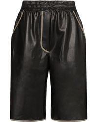 Nanushka Pantalon en cuir végétal Yolie - Noir