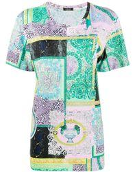 Versace - バロッコ パッチワーク Tシャツ - Lyst