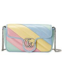 Gucci GG Marmont Matelassé Leather Super Mini Bag - Yellow