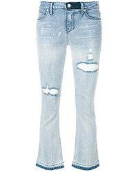 RTA - Cropped Flare Jeans - Lyst