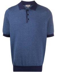 Canali Slim-fit Polo Shirt - Blue