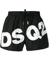 DSquared² Badeshorts mit Logo - Schwarz