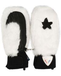 Rossignol Raki Faux Fur Mittens - White