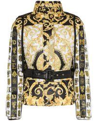 Versace - Baroque Print Hooded Puffer Jacket - Lyst