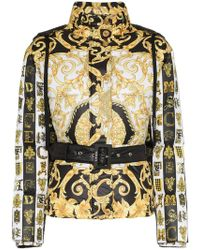 Versace - Heritage Print Hooded Puffer Jacket - Lyst