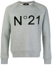 N°21 Logo Print Sweater - Серый