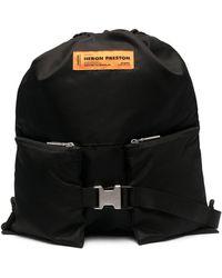 Heron Preston Logo Patch Backpack - Black