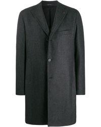 Tagliatore Manteau droit classique - Gris