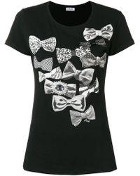 Liu Jo - Bow Print T-shirt - Lyst