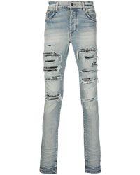 Amiri Gerafelde Jeans - Blauw