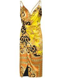 Versace Платье С Принтом Baroque - Черный
