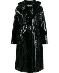 Fendi ロゴ フーデッドコート - ブラック
