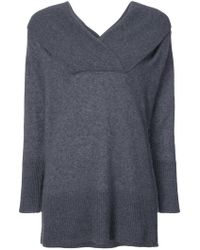 Adam Lippes - Off Shoulder Brushed Jumper - Lyst