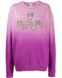 M Missoni Толстовка С Логотипом - Розовый
