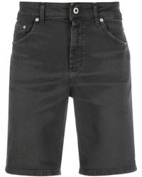 Dondup Distressed Mid-rise Denim Shorts - Black