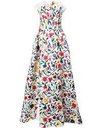 Carolina Herrera フローラルプリント ドレス - ホワイト