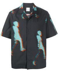 Paul Smith Camisa bowling con estampado gráfico - Azul