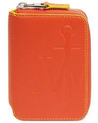JW Anderson Anchor Logo Medium Wallet - オレンジ