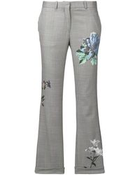 Each x Other Floral Print Tailored Trousers - Grijs