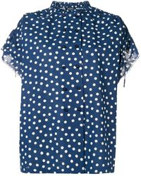 A.P.C. - Double Breasted Polka Dot Shirt - Lyst