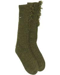 Maison Margiela Frayed Socks - Green