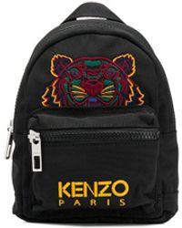 KENZO Mini Rucksack mit Tiger - Schwarz