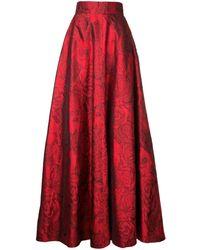 Bambah - Rose Patterned Silk Skirt - Lyst