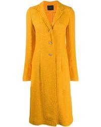 JOSEPH Tweed Single-breasted Coat - Orange