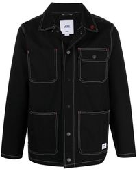 Vans ボタン シャツジャケット - ブラック