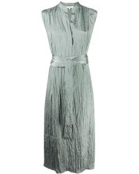 Vince Платье С Жатым Эффектом - Зеленый