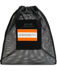 CALVIN KLEIN JEANS EST. 1978 Net Knitted Drawstring Backpack - Black