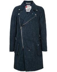 FDMTL - Zipped Denim Coat - Lyst